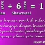 Puasa Ramadhan vs Puasa Enam Hari Syawal