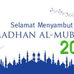 Selamat Menyambut Ramadhan Al-Mubarak 1438H/2017